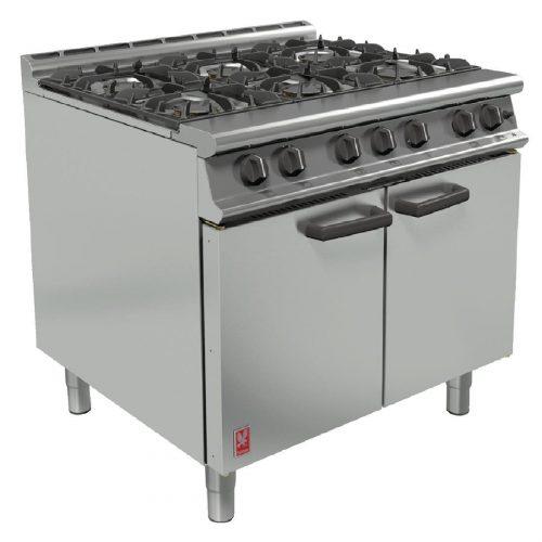 6 ring range oven