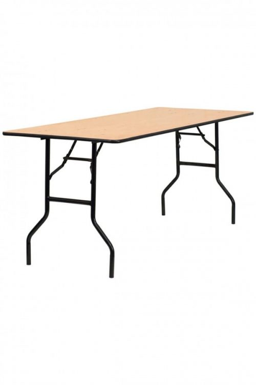 6ft x 2.5ft rectangular tables for events