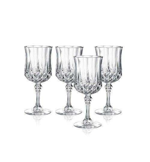 red wine crystal glasses