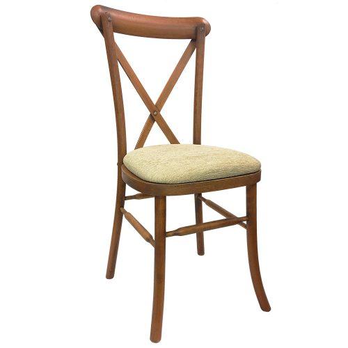 Rent oak cross back chair