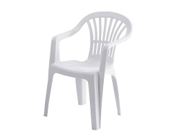 white plastic patio chairs for events