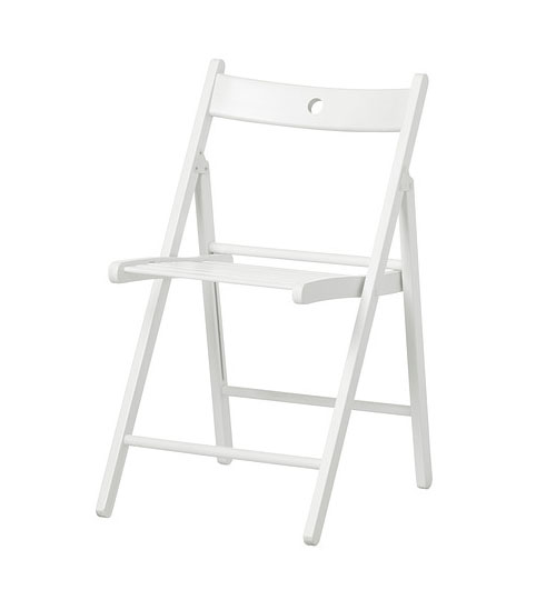white wooden folding chair for events