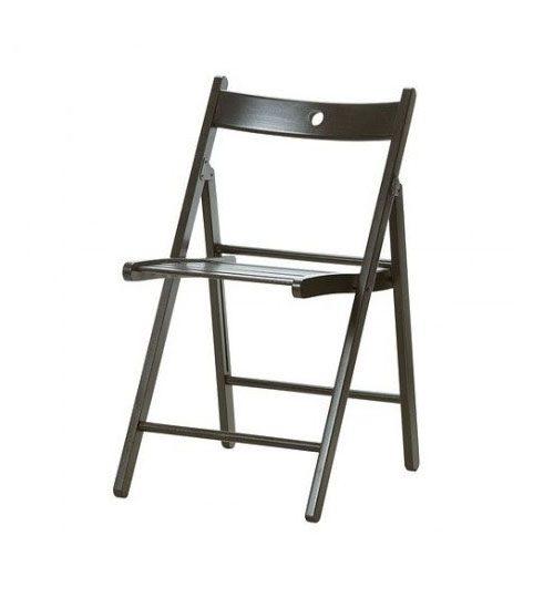 folding wooden chair dark wood