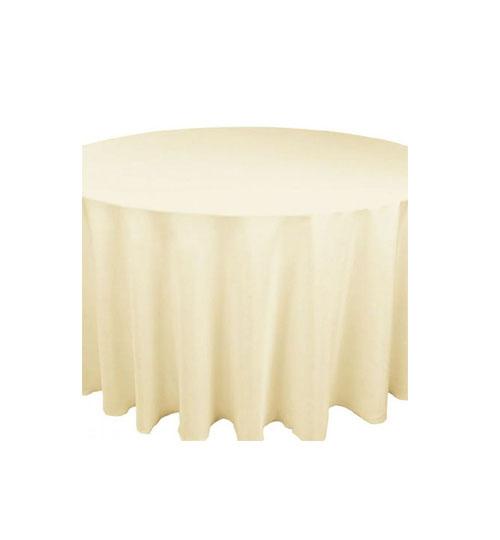 Ivory Linen 132 round
