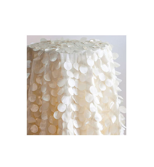 Petal Taffeta Table cloth - Ivory