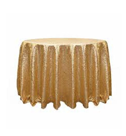Sequin Linen - Gold