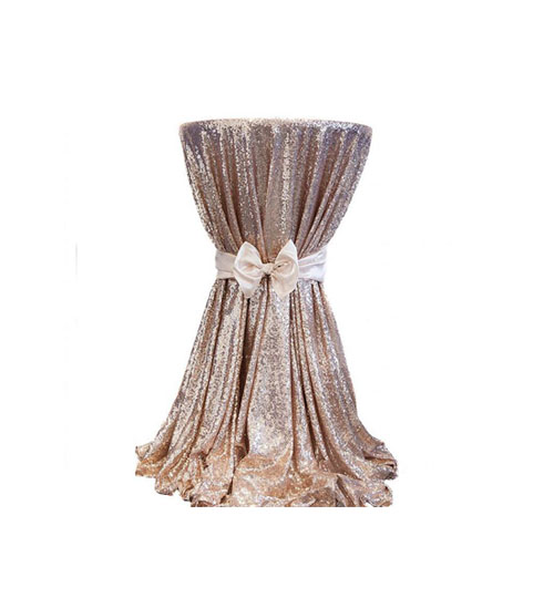 Sequin Linen - Rose Gold