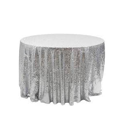 Sequin Linen - Silver