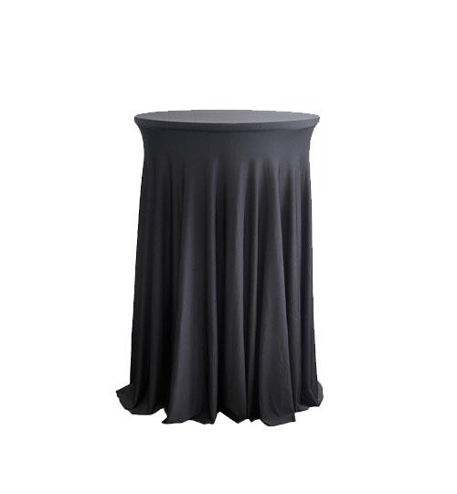 Black Spandex Cocktail table skirt
