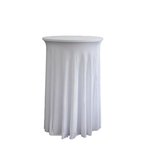 Spandex Cocktail table skirt White