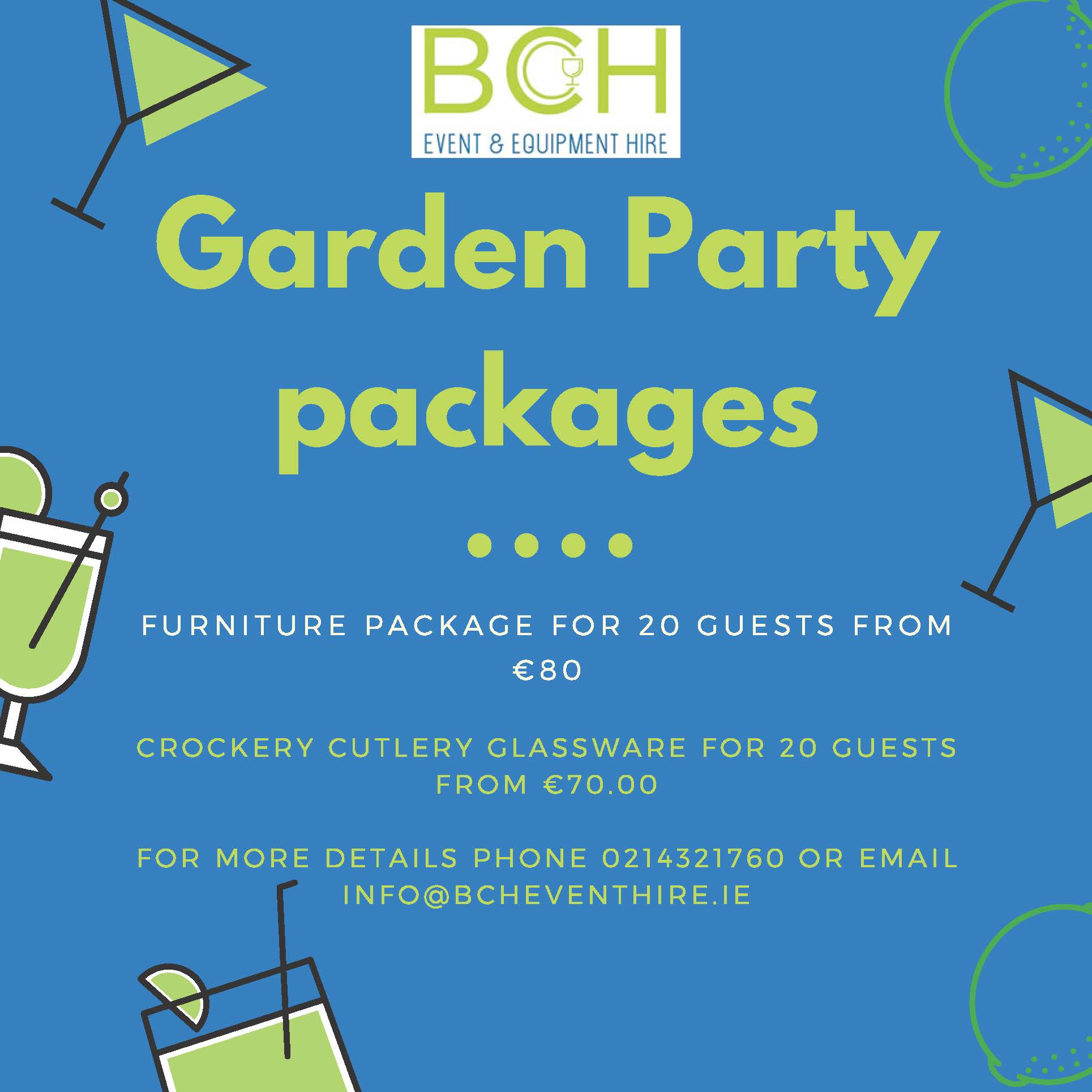 garden party packages